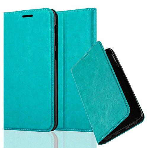 Cadorabo Hülle für HTC Desire 10 Lifestyle/Desire 825 - Hülle in Petrol TÜRKIS – Handyhülle mit Magnetverschluss, Standfunktion und Kartenfach - Case Cover Schutzhülle Etui Tasche Book Klapp Style
