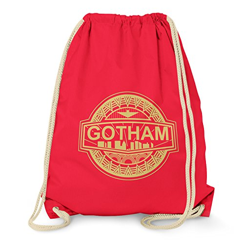 TEXLAB - Gotham Logo - Turnbeutel, rot