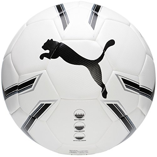 Puma Pro Training 2 HYBRID Ball Fußball, White Black/Silver, 5