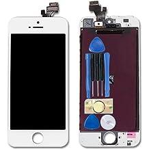Para blanco iPhone 5G digitalizador de pantalla táctil y pantalla LCD de repuesto con herramientas y adhesivo