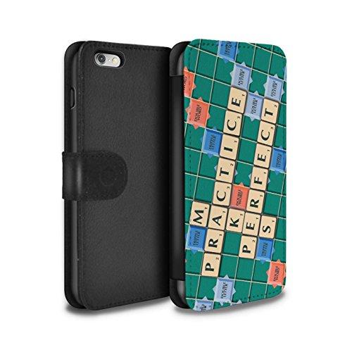 Stuff4 Coque/Etui/Housse Cuir PU Case/Cover pour Apple iPhone 6+/Plus 5.5 / Veni Vidi Vici Design / Mots de Scrabble Collection Pratique Parfaite