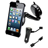 Muvit MUCKT0001 Support voiture grille + Chargeur Allume-cigare pour iPhone 5S 1 A