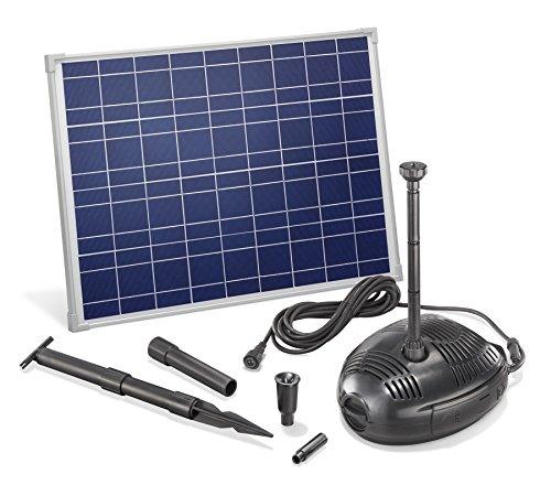 Solar Teichpumpe 35 Watt Solarmodul 1300 l/h Förderleistung 1,8 m Förderhöhe esotec pro Komplettset Gartenteich, 101730