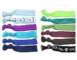 BONAMART ® 12 PCS Mädchen Elastisch Zopfband Haarband Haarschmuck Hair Tie Zopfgummi Rasta Pastell