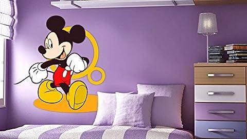 Mickey Maus-Wand-Aufkleber-Dekor-Abziehbild-Kunst für Kinderzimmer-Kinderzimmer (Villain-kostüme Für Frauen)