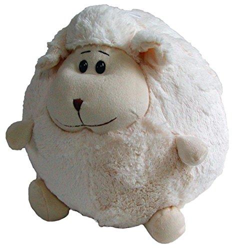 Preisvergleich Produktbild süßes Stofftier Kuscheltier Kugel Schaf aus Mikrofaser, waschbar, Ø ca. 50 cm