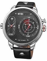 Sports Watches Relojes de Hombre Militray Reloj de Pulsera de Gran tamaño Doble Zonas horarias Correa
