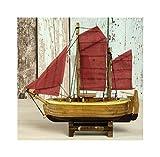 Küstenambiente Kleines Segelboot *Zeese* Boot Schiff Segler Zeesenboot Fertigmodell 15,5x15,5cm
