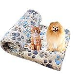 Da. WA Animal doux et moelleux pour chien chat chiot Patte Couverture Coussin Tapis de sommeil Couverture chaude Lits Washiable 60*40cm