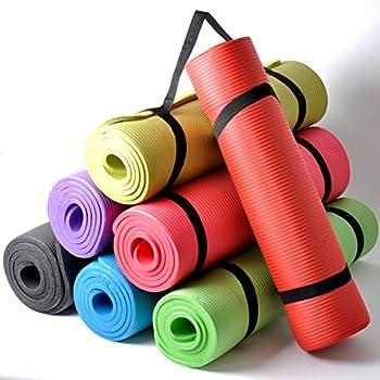 Thick Cushioned Pilates and Yoga Mat 182cm x 60cm x 16mm (Dark Green)