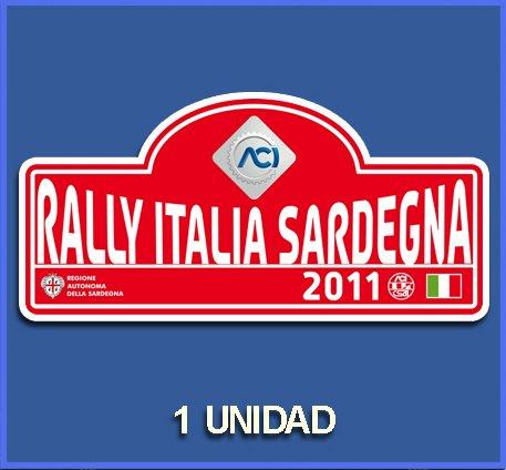 Ecoshirt 9Y-IPES-J3F6 Aufkleber Stickers Italia Sardegna 2011 Dp730 Aufkleber Autocollants Adesivi Car Decals Rally Rallies