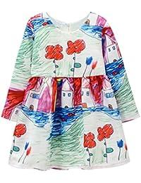 Vestido para Niñas Manga Larga Bebé Ropa Personalizado Impreso