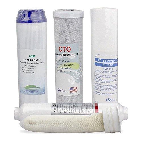 BACOENG Wasserfilter Ersatz Set - 5 Stufen Ultrafiltration - Arsen-entfernung
