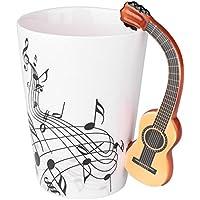 Auntwhale Novedad creativa Partituras de cerámica Freedom Stave Mango de guitarra Coffee Tea Barware Taza de regalo
