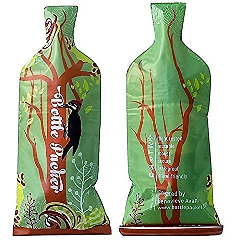 Reusable Wine Bottle Protector or Gift Bag (3 Pack) with Inner Skin and Extra Tough, Leakproof Outer - Gift Bag Dog