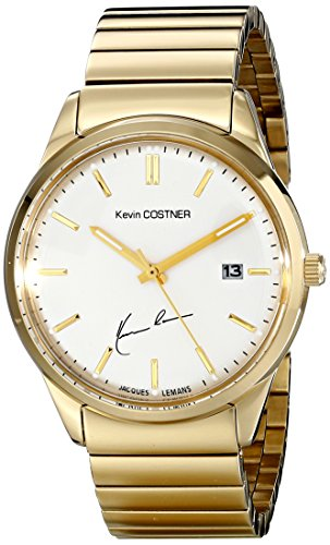 Jacques Lemans Unisex Watch Kevin Costner Analogue Display and Gold Stainless Steel 102E KC-Plated