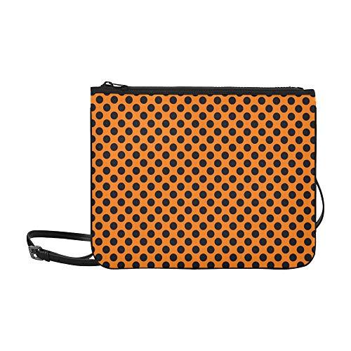 ze Polka Dots Benutzerdefinierte hochwertige Nylon Slim Clutch Crossbody Bag Umhängetasche ()