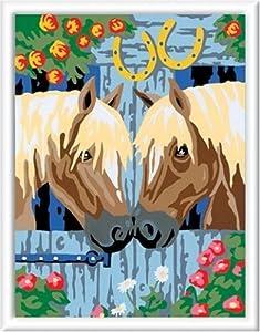 Ravensburger Spiel 29357 - Juego de Pintar guiado por números (24 x 18 cm), diseño de Caballos Importado de Alemania
