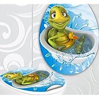 StickerProfis 'Asiento de inodoro pegatinas Tortuga en bañera Diseño Pantalla decorativo para inodoro WC