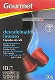 Gourmet Descafeinado Intenso Cápsulas de Café - Pack de 10 x 5 g - Total: 50 g