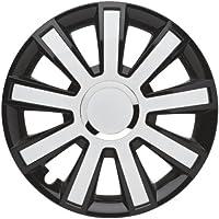 "ALBRECHT automotive 49385 Tapacubos Flash VII  15"" pulgadas, 4 Unidades, Negro/Blanco"