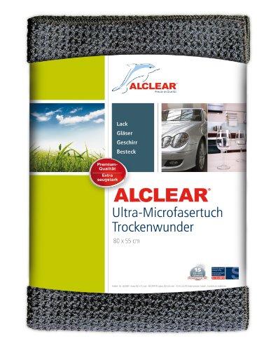 ALCLEAR 820901M Ultra-Microfasertuch Trockenwunder Maxi - perfekt für Auto und Motorrad - 80 x 55 cm, Grau