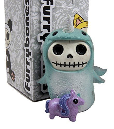 Kostüm Furry Blaue - Atlantic Sammlerstücke Furry Bones Blau Wal Wale Kostüm Skelett Monster Collectible Figur 8,3 cm H