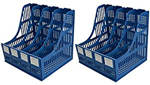 Lifestyle-You Plastic File / Magazine / Book Rack With 4 Sections (2.00)