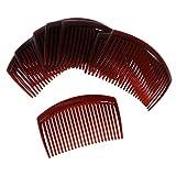 MagiDeal 12 Stk. Haarkamm Haarschmuck Haarclip 23 Zähne Einsteckkamm Mode Haar Zubehör - Kaffee