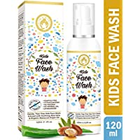 Mom & World Kids Face Wash Tear Free, 120ml (No SLS, Paraben) - with Argan Oil, Aloevera