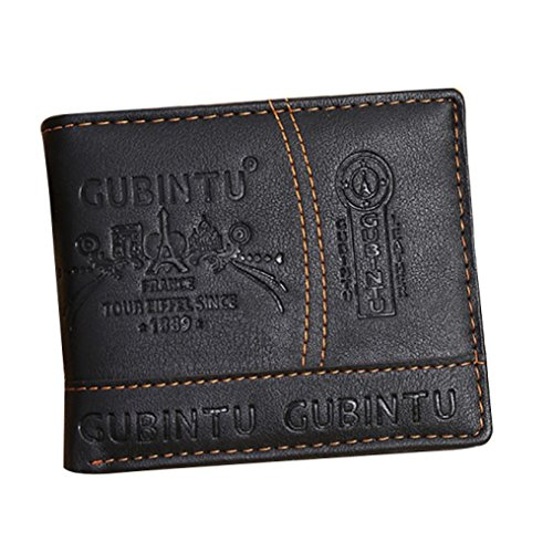 Culater® Uomini PU Leather Carta Cash Receipt dell'organizzatore del supporto