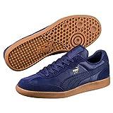 Puma Liga Leather Leder 364597 Retro Sneakers Schuhe Ikone, Größe:UK 5½ - EUR 38.5 - 24.5 cm;Farbe:Blautöne