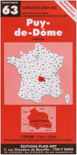 Carte routière : Puy-de-Dôme