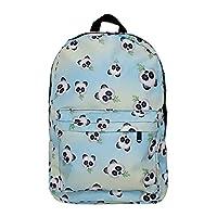 NobleQueen 2017 Cute Kawaii Fashion Emoji Unicorn Panda Printed Backpack Rucksack For Girls Teenages School Sport Outdoor (cute panda)