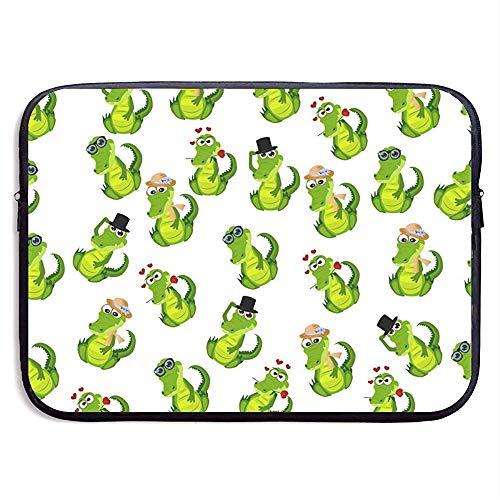 Nettes Krokodil oder Alligator-Laptop-Hülsen-Beutel-beweglicher Reißverschluss-Laptop-Beutel-Tablette-Beutel -