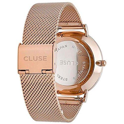 Cluse Damen Armbanduhr Analog Quarz Edelstahl - 4