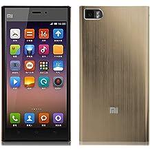 JAMMYLIZARD | Carcasa De Aluminio Para Xiaomi MI3 Efecto Cepillado Metálico Back Cover, PLATINO