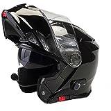 Avant à rabat Casque de moto Viper RS V171Bluetooth Moto Scooter Adulte Adventure Touring Casque Noir (Taille XS)