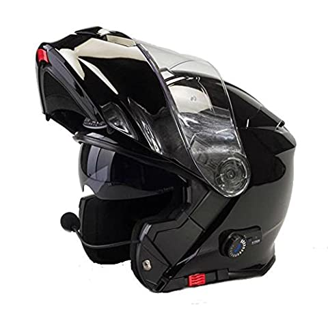 Avant à rabat Casque de moto Viper RS V171Bluetooth Moto Scooter Adulte Adventure Touring Casque Noir (Taille