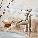 GJ-Europäische antiker Zeichentisch Waschbecken Messing warmes und kaltes Wasser Mischbatterie