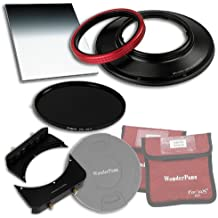 Fotodiox WonderPana 66 FreeArc Wesentliche ND 0.9HK Kit mit 145 mm Rotierend Filterystem Halter/Objektivkappe/ Pro 0.9 (3-stop) Harte Kante Grad ND/145 mm ND16 (4-Stop) Filter für Canon 14 mm Super-Weitwinkel EF f/2.8L II USM Objektiv (Full-Frame 35 mm)