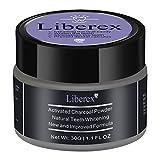 Liberex Poudre de Blanchiment des Dents Au Charbon Actif - Ultra-Fine Goût Mentholé Fraîche, Enlever les...
