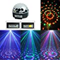 ALED LIGHT® MP3 Crystal Magic Ball 6 Colour Rotating Strobe Disco Stage Christmas LED RGB Ball Light with Remote control for Party Wedding Show Club Pub
