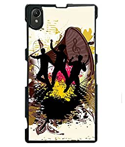 Fuson 2D Printed Music Designer back case cover for Sony Xperia Z1 - D4168