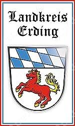 Deutschland Bayern Landkreis Erding Computer Tablet Aufkleber Aufkleber Sticker 7,6 x 12,7 cm