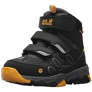 Jack Wolfskin Unisex-Kinder MTN Attack 2 Texapore MID VC K Trekking-& Wanderhalbschuhe, Grau (Burly Yellow 3800), 35 EU