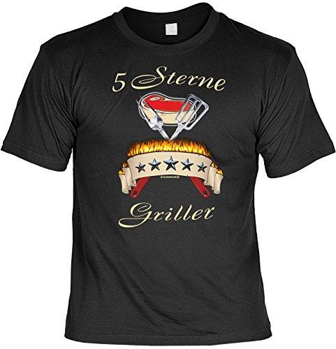 Sprüche Fun Tshirt 5 Sterne Griller Gr 3XL in schwarz : )