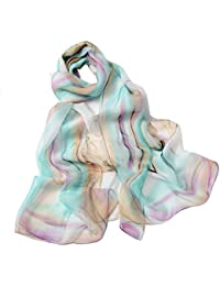 ad7f62d81454 Internet Femmes Wrap doux longue écharpe Mesdames châle mousseline de soie  foulards Fleur Imprimé