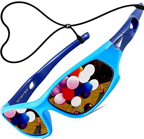 ATTCL ATTCL Kinder Sonnenbrille TR90 Polarisierte Sportbrille für Jungen und Mädchen Alter 3-10 5025 blue-blue Sonnenbrillen -