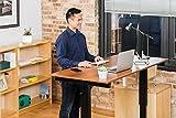 Kurbelverstellbarer Sitz-Stehtisch - Wohnung Schreibtisch (Rahmen schwarz / Teakholz, Schreibtisch Länge: 150cm) - 4